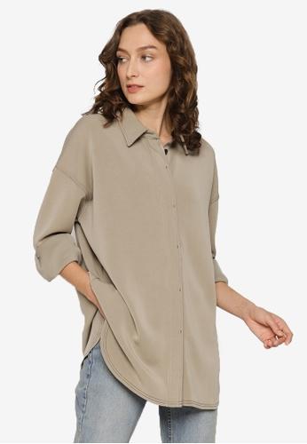 JEANASIS beige Long Sleeves Shirt C4198AA6AF3F39GS_1