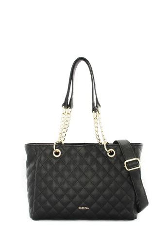 SEMBONIA black Genuine Leather Crossbody Bag (Black) SE598AC0SS2HMY_1