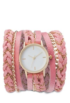 Braided Triple Tour Wrap Watch