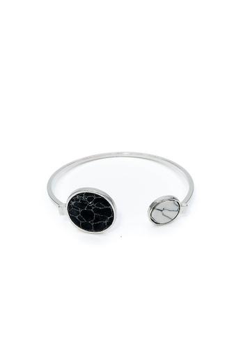 BRANWYN silver Marbled Bangle BR709AC0JFO0PH_1