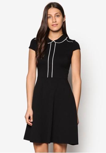 撞色滾邊標準領洋裝、 服飾、 服飾DorothyPerkins撞色滾邊標準領洋裝最新折價