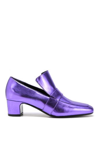 RABEANCO purple RABEANCO NOONA CHUNKY Heel Loafers - Violet 1591DSHFA6872AGS_1