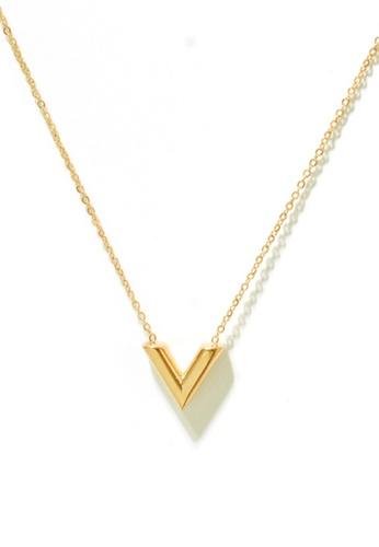 CELOVIS gold CELOVIS - Victoria V-Shape Classic Necklace in Gold 14FDDAC5950FF4GS_1