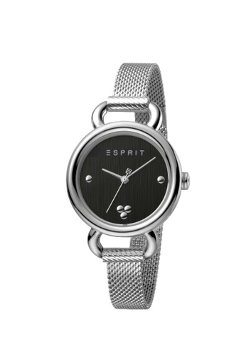 ESPRIT silver Esprit Women Play Black Silver Mesh Box Set With Bracelet ES1L023M0045 170A7AC6341BD4GS_1