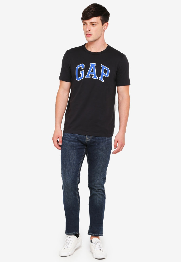 GAP Crew Logo Moonless Night Neck T Shirt 4ASqIngwS
