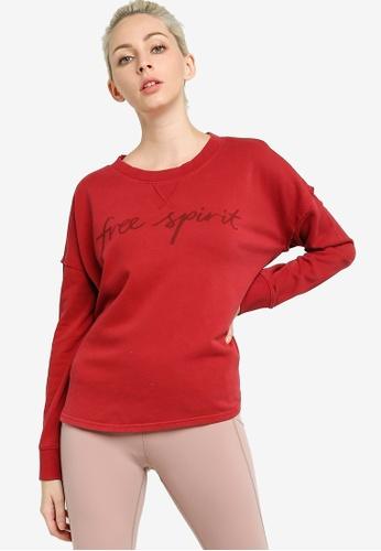 Lorna Jane red Free Spirit Sweatshirt 8677CAA1724CC5GS_1