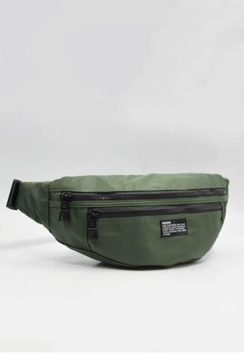 OPTIONS green Armour Waist Pouch 2B730AC9FDA564GS_1