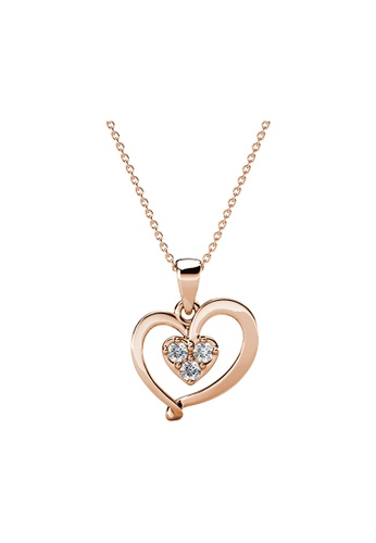 Her Jewellery gold Delicae Pendant (Rose Gold) - Made with Premium grade crystals from Austria 4652FAC87C8B19GS_1