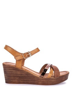 88800eeca3d87 UNLISTED brown Emalyn Ankle Strap Wedge Sandals 7A003SHBCAA209GS 1