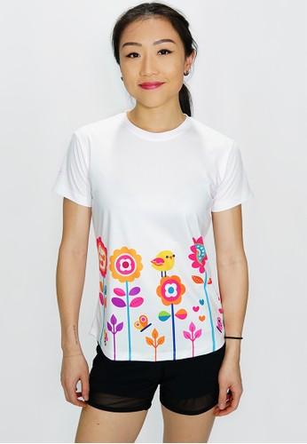 Trijee white Trijee Women Short Sleeve Tee Ayya - White 54B7CAA9DB1D80GS_1