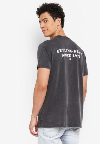Billabong 黑色 短袖復古印花T恤 BI783AA0SXRKMY_1