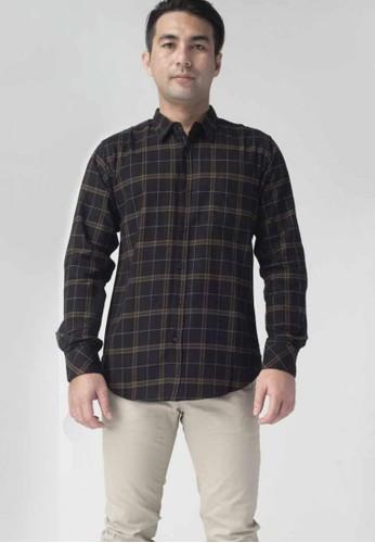 SCOTCH&CO black SCOTHCO Kemeja Pria Lengan Panjang Fergus Flannel Shirt Hitam Kotak 17869-11233 1D545AA8620E0FGS_1