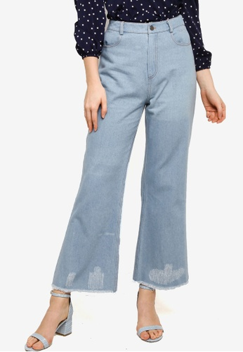 Lubna blue Denim Distressed Jeans 3EFE9AAEB2606CGS_1