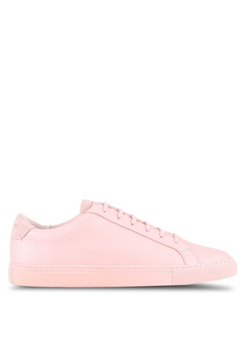 KG Kurt Geiger pink Donnie Low Top Trainers KG303SH0RTCVMY_1