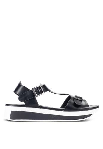 Nose black Casual T Bar Wedge Sandals NO327SH55IJGMY_1
