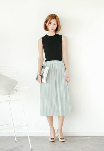 esprit手錶專櫃褶飾及膝短裙, 服飾, 裙子