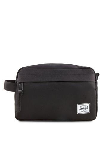 Herschel black Chapter Travel Kit HE305AC24BSXSG_1