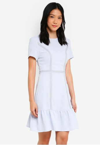 ZALORA blue Shirt Sleeves Dress with Cutout Back Detail 8B93BAA7A89020GS_1