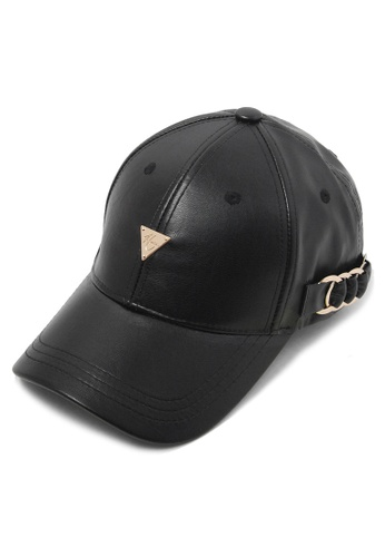 DOSSCAPS black and gold HATER Side Metal Hoop Cap DO290AC0RWD2MY_1