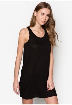 Basic Sleeveless Swing Dress