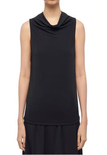 ck Calvin Klein 黑色 人造纖維針織上衣 6F8AFAABFDE886GS_1