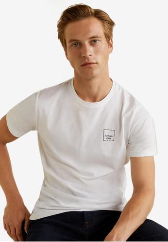 MANGO Man 白色 短袖印花T恤 9D226AAB58DB36GS_1