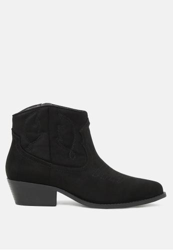 London Rag 黑色 Embroided西部靴 88533SHFE9C233GS_1