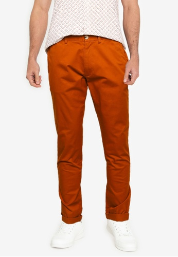 Ben Sherman brown Signature Skinny Stretch Chino Trousers 08C4AAA7E20053GS_1
