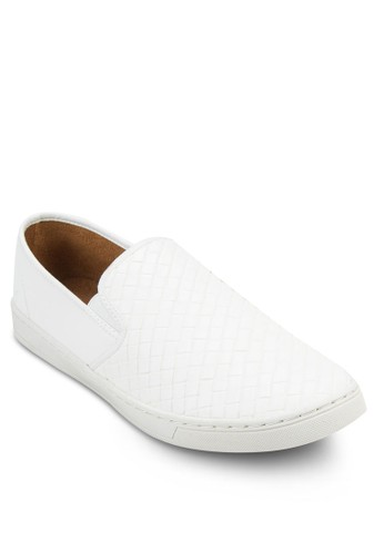 Faux Weave Leathesprit專櫃er Slip On Sneaker, 鞋, 鞋