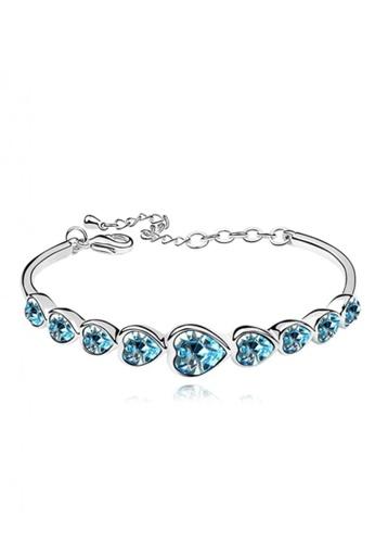 LOVENGIFTS blue LOVENGIFTS Forever Love Bangle (Blue) LI189AC01MTAMY_1