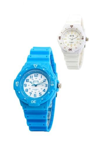 Greatvalueplus white and blue Newyork Army NYA1355 Standard Analog Watch Set of 2 GR688AC0ITV5PH_1