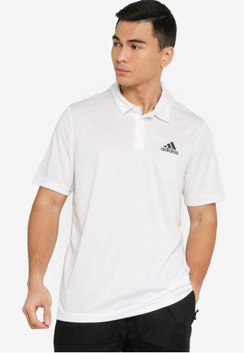 ADIDAS white aeroready designed to move sport polo shirt F167AAAEA5FBB3GS_1