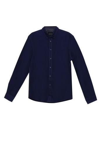 BLEND navy Slim Fit Long Sleeve Shirt B4A36AAC57CB5AGS_1