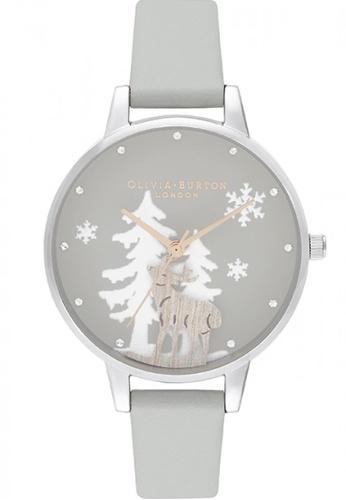 Olivia Burton silver Olivia Burton Winter Wonderland GREY Women's Watch (OB16AW02) AD0B4AC4CD1DC4GS_1