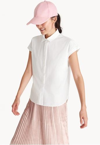 Pomelo white Double Button Shirt - White A7E19AA34E07A1GS_1