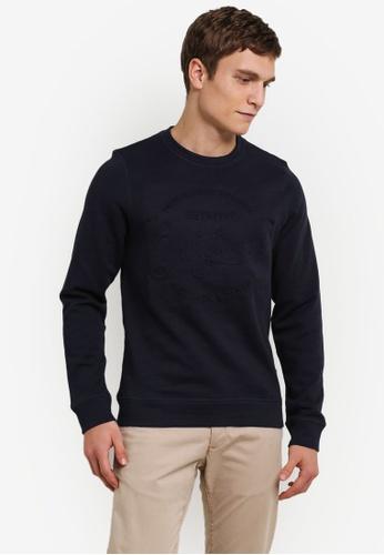 Jack & Jones navy Jorsports Sweatshirt JA987AA0S4K9MY_1