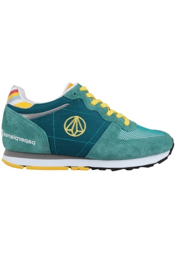 paperplanes green Paperplanes-1143 Fashion Casual Suede Mesh Tall Up Sneakers US Women Size PA355SH09PIKSG_1