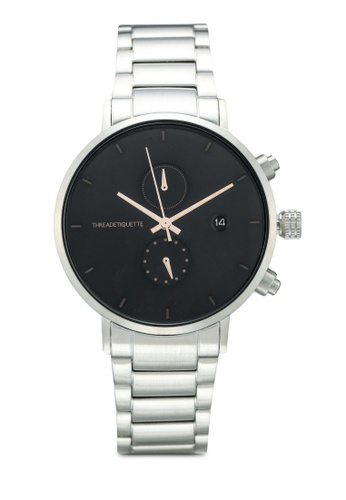 Thread Etiquette black and silver Explorer-Silver/Black Timepiece 0CFEFAC356006AGS_1