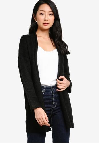 ZALORA BASICS black Knitted Cardigan 1CE77AAA8C18C4GS_1