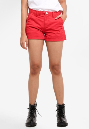 Cotton On red The Slant Pkt Chino Shorts 02DCBAAB23D993GS_1