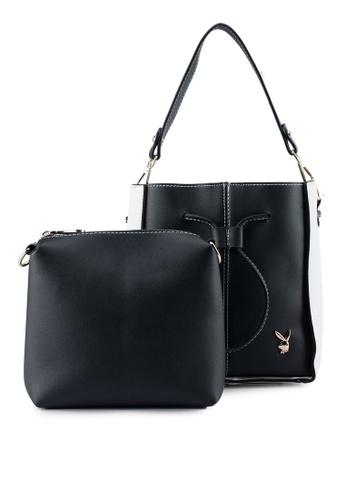 PLAYBOY BUNNY black Playboy Bunny 2in1 Ladies Bag 9174EAC8778651GS_1