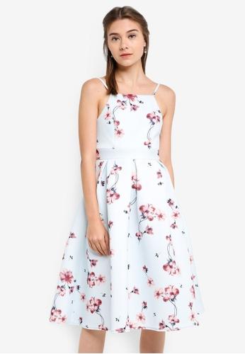 ZALORA multi Bridesmaid Cut-In Pleated Midi Dress A9DD9AA96F0774GS_1