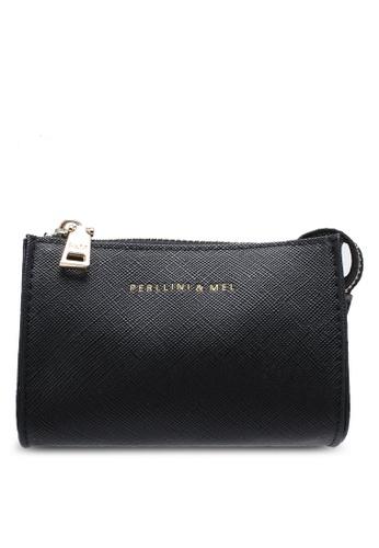 Perllini&Mel black Faux Leather Small Pouch PE444AC0SCO0MY_1