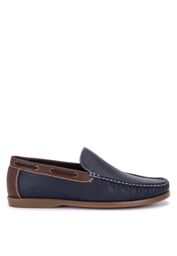 Italianos blue Rowan Loafers 5E217SH0F373A6GS_1