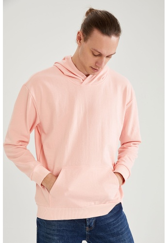 DeFacto pink Man Knitted Sweat Shirt C1099AABBD0A50GS_1