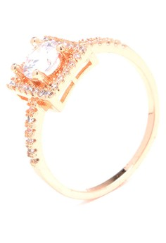 Anne Forever Promise 18k Plated Cubic Zircon Ring