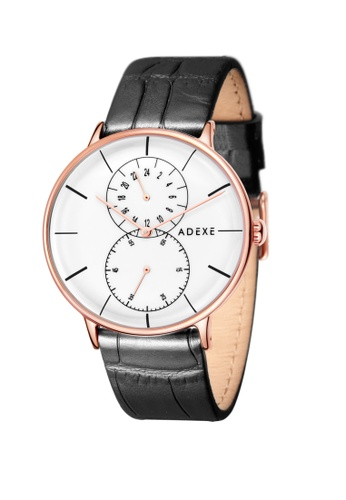 ADEXE Watches black ADEXE Watches Foresser Men Leather 455C0AC7AFB58AGS_1
