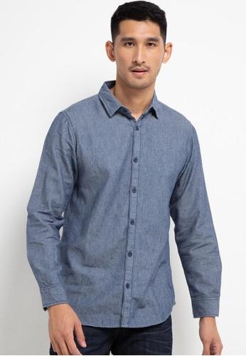 Tripl3 Jeans blue Kemeja Lengan Panjang Slim Fit 3C0D9AA8B4B8A7GS_1