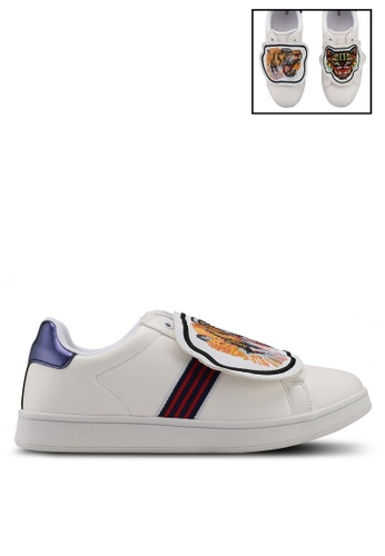 Nose white and orange Ace Sneakers With Removable Patches 21244SHFE90135GS_1