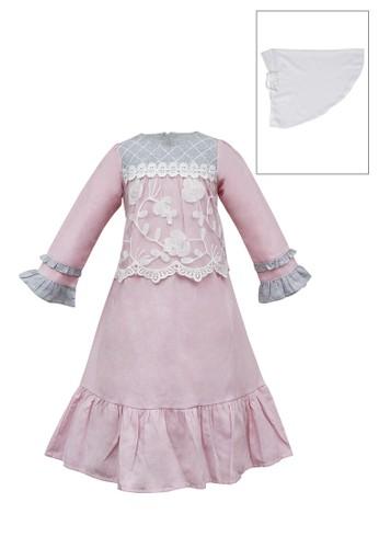 INFINE pink Muslim Dress Anak Esm 219 6/12 19304KAE9C0AEAGS_1
